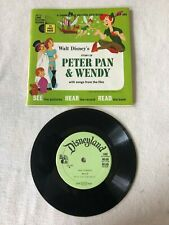 1965 Walt Disney Disneyland PETER PAN & WENDY  Record and Book LLP 304