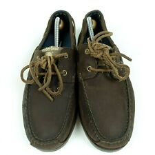 Timberland Earthkeepers Brown Leather Boat Shoes 5231R Men Size 9.5