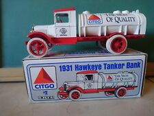 ERTL 9820 DIECAST METAL BANK 1931 HAWKEYE TANKER BANK CITGO GASOLINE