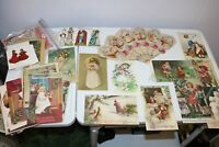 Lot of Vintage Reproduction Christmas Postcards of Antique Postcards - 68 Cards