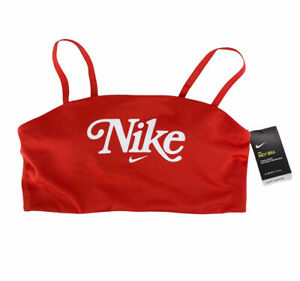NEW Nike Spellout Indy Bra - Light Weight Performance Sports Bra - Red - Size XL