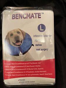 Inflatable Dog Collar Size Large Washable Bencmate blue Used***