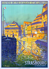 Affiche chemin de fer Alsace Lorraine - Strasbourg 3