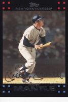 2007 TOPPS INSERT CARD # 7 - HOF MICKEY MANTLE - NEW YORK YANKEES