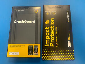 RhinoShield CrashGuard Case Blk & Screen Protector iPhone 7 Plus / iPhone 8 Plus