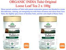 2 x 100g ORGANIC INDIA Tulsi Original Loose Leaf Tea ( 200g ) stress relieving