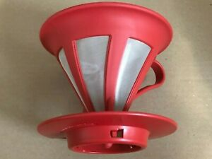 Hario Two Cup Stainless Steel Dripper Coffee CFOD-02R RED from Japan