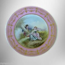 Decorative plate with gold accents - Sevres style