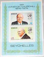 SEYCHELLES SEYCHELLEN 1974 Block 4 S/S 322a 100th Bday Winston Churchill MNH