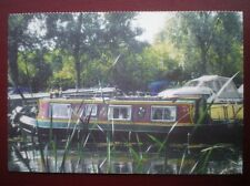 POSTCARD ESSEX BARGE AT PAPER MILL LOCK