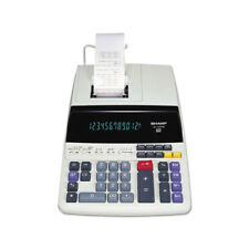 Sharp El1197Piiiw Heavy Duty Color Printing Calculator W/ Clock & Calendar
