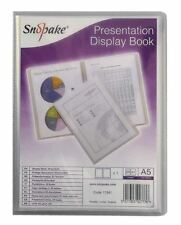 Snopake Superline A5 Presentation Book 20 Pocket Polypropylene Clear