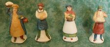 """Dept 56 Heritage Village Collection~""""Shopkeepers"""" ~4 Piece Set~#5966-8~Iob"""