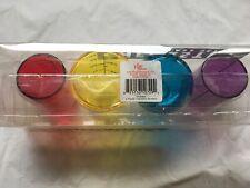 Set Of 4 Shotglasses Chemistry Set Multicolored Plastic