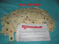 Lot Of Over 400 Pressman Original Rummikub Rummy Game Tiles --Great Condition