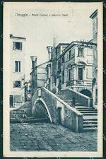 Venezia Chioggia Ponte Caneva cartolina QT4022