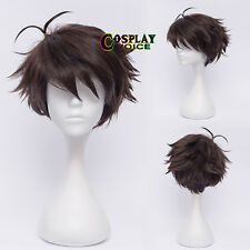 Haikyuu!! Oikawa Tooru Dark Brown 30CM Short Layered Anime Cospaly Hot Sale Wig