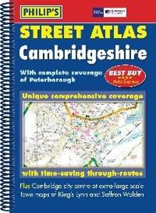 Cambridgeshire Map Philips Spiral Street Atlas - Cambridgeshire