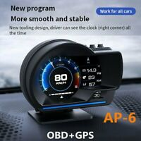 Car HUD Gauge GPS Smart Gauge Digital Speedometer OBD2 Fault Code Clear Meter