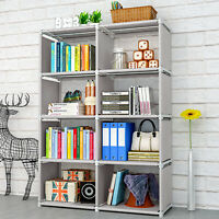 42.9'' Bookcase Book Shelf Storage Cube DIY Combination