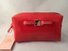 Ted Baker Small Jewel Bow Wash Bag Dark Orange
