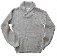 H&M Mens Jumper H M GREY Knitted MELANGE Cotton Knit Top UK L £29.99