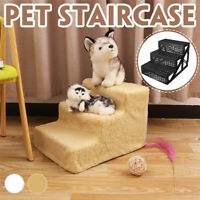 3 Steps Dog Cat Pet Puppy Plastic StairsSoft Stairs Steps Ramp & Washable Cover