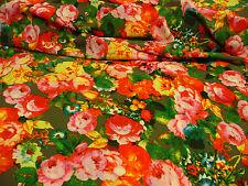 Tissu en polyester,Motif floral,Multicolore,Marchandise au mètre,tissu,Tissus,