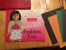AMERICAN GIRL CREATE YOUR OWN PAPER DOLL FASHION FUN BOOK has some lite writing