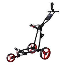 NEW Callaway Golf Drone Push Cart Black/Red DRINK HOLDER & FOOT BRAKE