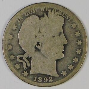1892-O 50c Barber Silver Half Dollar Coin **Better Date**