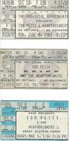 TOM PETTY 6-8-87 & 7-29-89 Universal 3-1-90 Forum Ticket Stubs XLNT COND!