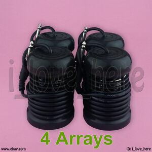 4 BLACK ION IONIC DETOX FOOT SPA BATH ARRAYS. DOUBLE COIL HIGH GRADE STEEL