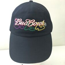 Budweiser Bud Bowl 2002 Football Dad Hat Black Adjustable Baseball Cap One Size