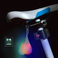 Bike Led Light Heart Shape Cycling Balls Silicone Bicycle Taillight Rear Lights