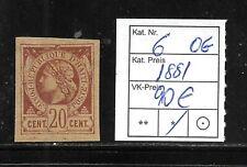 (57023) HAITI CLASSIC STAMPS #6 1881, UNUSED OG  CAT.VL+ 90,00€