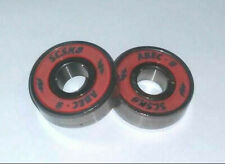2 NEW SCSK8 ABEC-9 RED SKATE BOARD ROLLER SKATE BEARINGS ***MAKE OFFER***