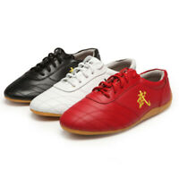 Soft Cow Leather Kung fu Tai Chi Shoes Martial Arts Wushu Sports Bottom Sneakers