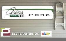 FORD Cortina doppia camma Banner, per officina, garage, RALLY, Pit Lane, Man Grotta