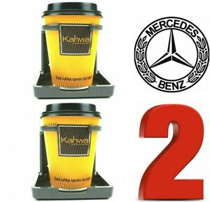 2 CHARCOAL GREY MERCEDES BENZ CLONE REPLICA CUPHOLDER CUP DRINK HOLDER W124 E320