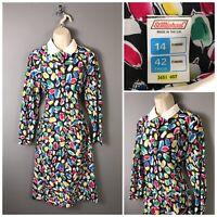 Vintage St Michael M&S Black Mix Dress UK 14 EUR 42 US 10 Made in UK