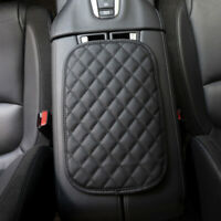 Universal Leather Car Armrest Pad Mat Cover Center Console Box Cushion Protector