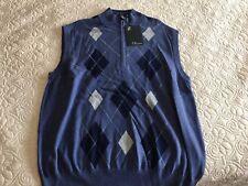 NWT Cleveland Golf Argyle Blue Sweater Vest, $49 retail