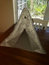 cat triangle padded teepee house pet bed