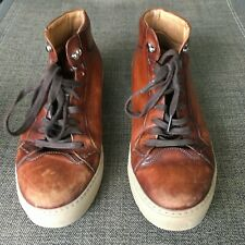 Magnanni mens boots  High Top Sneakers size 10.5 Brown leather handmade shoes