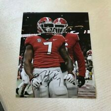 D'ANDRE SWIFT SIGNED AUTOGRAPHED 8X10 PHOTO GEORGIA BULLDOGS TD CELEBRATION A