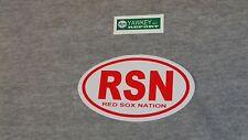 Fenway Park Boston Red Sox Nation RSN Oval Logo Bumper Sticker Decal (R) FREESHP
