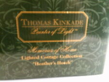 Thomas Kinkade Memories of Home Lighted cottage Heather'S Hutch Nib- Free Ship