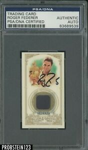 Roger Federer Signed 2012 Topps A & G Tennis AUTO PSA/DNA Authentic