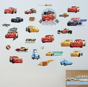 disney CARS LIGHTENING MCQUEEN  MATER LARGE WALL STICKER NURSERY/KIDS/BOYS ROOM